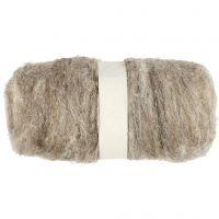 Wolle, kardiert, Natur, 100 g/ 1 Bündl.
