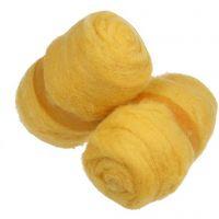 Wolle, kardiert, Gelb, 2x100 g/ 1 Bündl.