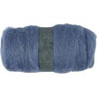 Wolle, kardiert, Himmelblau, 100 g/ 1 Bündl.