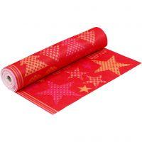 Motiv-Filz, B: 45 cm, Dicke 1,5 mm, 180-200 g, Orange, Rot, 5 m/ 1 Rolle