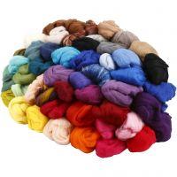 Wolle, Dicke 21 my, Sortierte Farben, 20x20 g/ 1 Pck