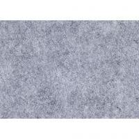 Bastelfilz, A4, 210x297 mm, Dicke 1,5-2 mm, meliert, Grau, 10 Bl./ 1 Pck