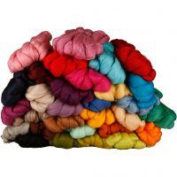 Wolle, Dicke 21 my, Sortierte Farben, 32x100 g/ 1 Pck