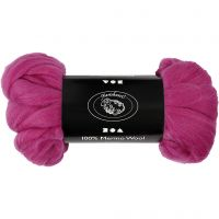 Wolle, Dicke 21 my, Rotviolett, 100 g/ 1 Pck