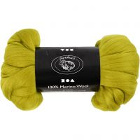 Wolle, Dicke 21 my, Zitronengelb, 100 g/ 1 Pck
