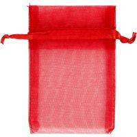 Organza-Beutel, Größe 7x10 cm, Rot, 10 Stk/ 1 Pck