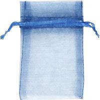 Organza-Beutel, Größe 7x10 cm, Blau, 10 Stk/ 1 Pck