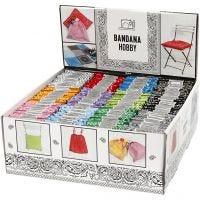 Bedrucktes Bandana-Tuch, Sortierte Farben, 144 Stk/ 1 Pck