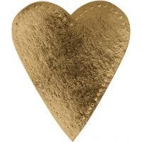 Herz, H: 12 cm, B: 10 cm, 350 g, Gold, 4 Stk/ 1 Pck