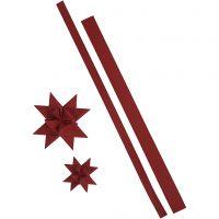 Streifen für Flechtsterne, L: 44+78 cm, B: 15+25 mm, 350 g, Rot, 24 Streifen/ 1 Pck