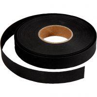 Lederpapierstreifen / Flechtstreifen, B: 15 mm, Dicke 0,55 mm, Schwarz, 9,5 m/ 1 Rolle