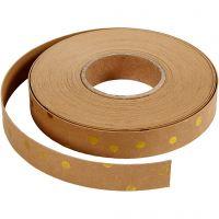 Lederpapierstreifen / Flechtstreifen, B: 15 mm, Dicke 0,55 mm, Hellbraun, 9,5 m/ 1 Rolle