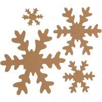 Schneeflocke, D: 3+5+8+10 cm, 350 g, Natur, 16 Stk/ 1 Pck