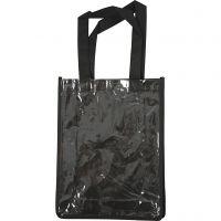 Tasche mit Front aus Kunststoff, Größe 30x23x7 cm, Schwarz, 1 Stk