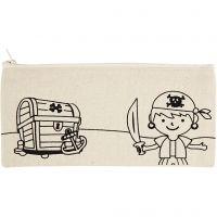Mäppchen, Piraten, Größe 21x9 cm, 245 g, Hellnatur, 1 Stk