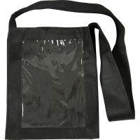 Tasche mit Front aus Kunststoff, Größe 40x34x8 cm, Schwarz, 1 Stk