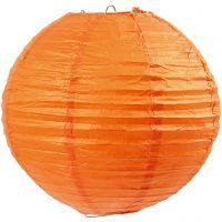 Reispapier-Lampe/-Lampion, D: 20 cm, Orange, 1 Stk