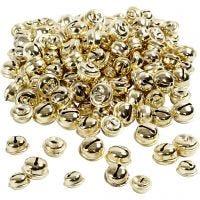 Schellen, D: 13+15+17 mm, Gold, 220 sort./ 1 Pck