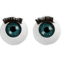 Augen, groß, Größe 12 mm, 6 Stk/ 1 Pck