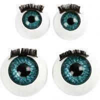 Augen, groß, D: 12+17 mm, 2x50 Stk/ 1 Pck