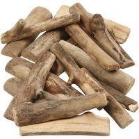 Holzstücke - Sortiment, L: 6-14 cm, Dicke 15 mm, 610 g/ 1 Pck