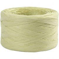 Papierbast (Raffia), B: 7-8 mm, Hellgrün, 100 m/ 1 Rolle