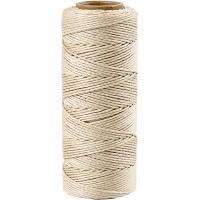 Bambuskordel, Dicke 1 mm, Naturweiß, 65 m/ 1 Rolle