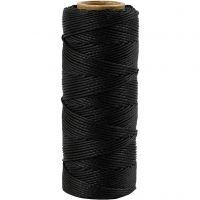 Bambuskordel, Dicke 1 mm, Schwarz, 65 m/ 1 Rolle