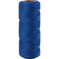 Bambuskordel, Dicke 1 mm, Blau, 65 m/ 1 Rolle