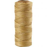 Bambuskordel, Dicke 1 mm, Gold, 65 m/ 1 Rolle