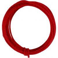 Jute-Draht, Dicke 2-4 mm, Rot, 3 m/ 1 Pck