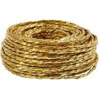 Papierkordel, Dicke 3,5-4 mm, Gold, 25 m/ 1 Rolle