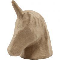 Einhorn-Kopf, H: 18,5 cm, B: 10 cm, 1 Stk