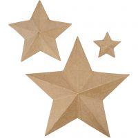 Sterne, H: 11+19,5+31,5 cm, 3 Stk/ 1 Pck