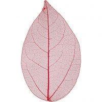Laubblätter, L: 6-8 cm, Rot, 20 Stk/ 1 Pck
