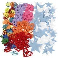 Filzfigur, Größe 40-60 mm, Inhalt kann variieren , Sortierte Farben, 180 Stk/ 1 Pck