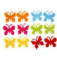 Filz Schmetterlinge, Größe 3 cm, Dicke 1,5 mm, 160 Stk/ 1 Pck