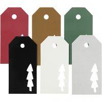 Geschenkanhänger, Weihnachtsbaum, Größe 5x10 cm, Inhalt kann variieren , 300 g, 6x15 Stk/ 1 Pck