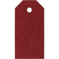 Geschenkanhänger, Größe 5x10 cm, 300 g, Rot, 15 Stk/ 1 Pck