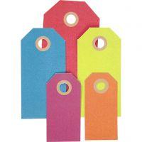 Geschenkanhänger, Größe 3x6+4x8+5x10 cm, 220 g, Sortierte Farben, 500 Stk/ 1 Pck
