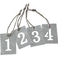 Zinkanhänger, 4 Stk/ 1 Set
