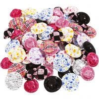 Mini-Hüte, D: 4 cm, Sortierte Farben, 100 Stk/ 1 Pck