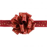 Susifix Band, B: 18 mm, Gold, Rot, 5 m/ 1 Rolle