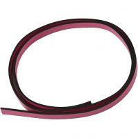 Lederband Imitat, B: 10 mm, Dicke 3 mm, Pink, 1 m/ 1 Pck