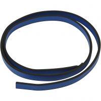 Lederband Imitat, B: 10 mm, Dicke 3 mm, Blau, 1 m/ 1 Pck