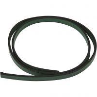 Lederband Imitat, B: 10 mm, Dicke 3 mm, Grün, 1 m/ 1 Pck