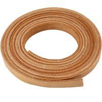 Lederband , B: 10 mm, Dicke 3 mm, Natur, 2 m/ 1 Pck