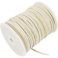Band aus Wildlederimitat, Dicke 3 mm, Beige, 100 m/ 1 Rolle