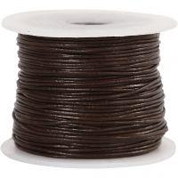 Lederband, Dicke 1 mm, Braun, 50 m/ 1 Rolle