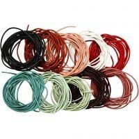Lederband, Dicke 2 mm, Sortierte Farben, 10x3 m/ 1 Pck